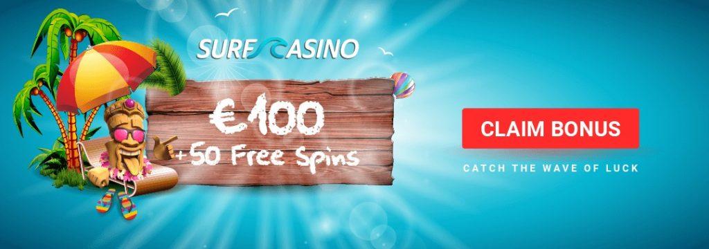 Surf Casino Australia - No Deposit Bonus Code with free spins