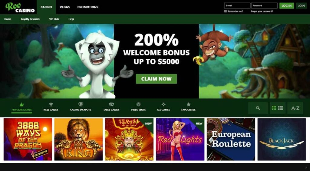 Roo Casino Online Play