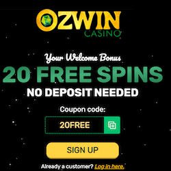 Ozwin casino 20 free spins