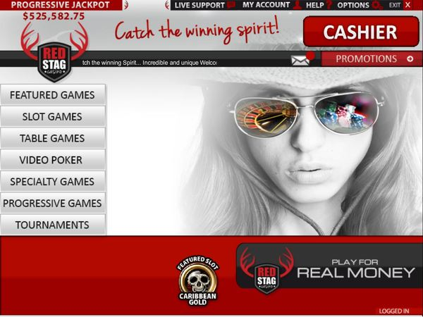 Red Stag Casino login - Lobby