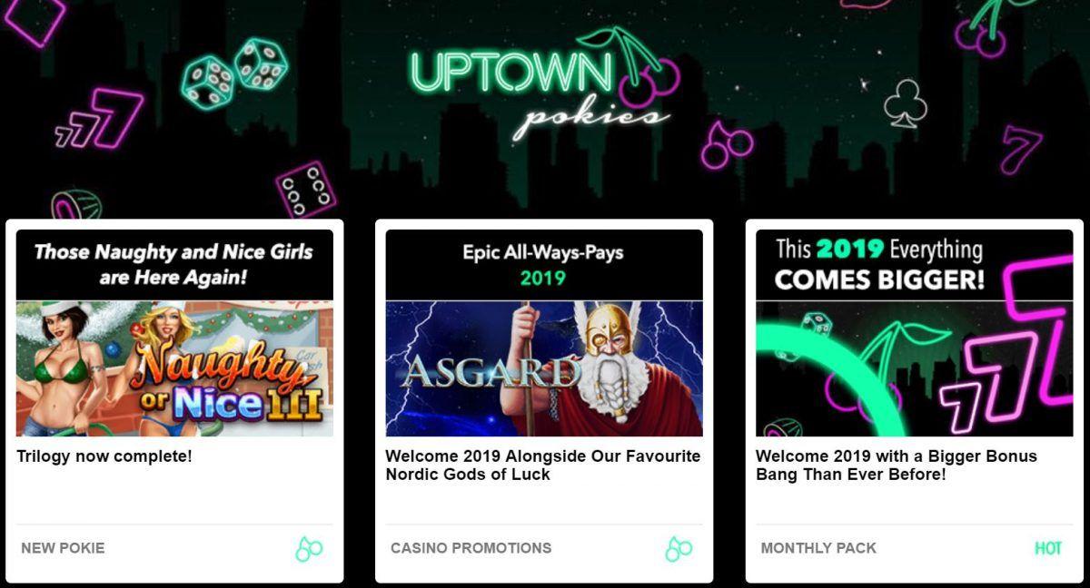 Uptown Pokies Login - No deposit bonus codes and free spins