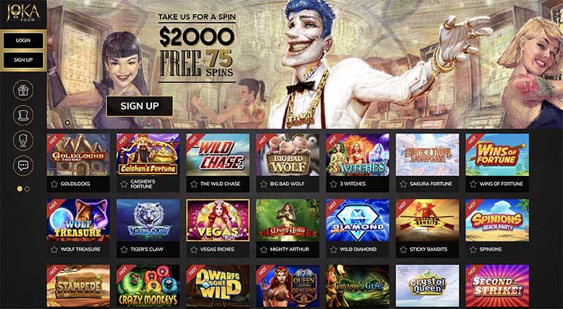 JokaRoom casino free spins with no deposit bonus codes